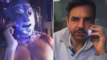 Eugenio Derbez bromea con 'El Santo'
