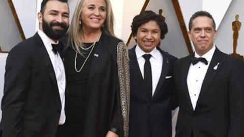 Darla K. Anderson vistió diseño de mexicana en los Oscar 2018