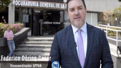 Döring presenta denuncia por filtración de video de Ricardo Anaya