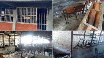 Incendian biblioteca de secundaria en Saltillo