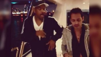 Will Smith aprende a bailar salsa con Marc Anthony