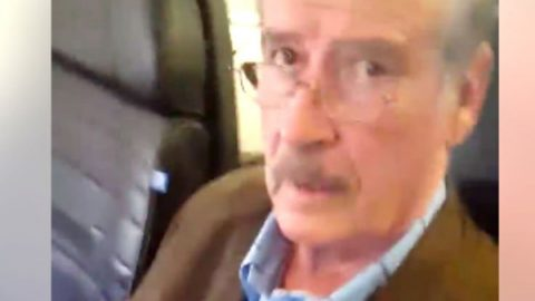 Responde Vicente Fox por incidente en avión