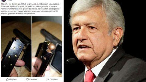 Surge en redes sociales amenaza de muerte contra AMLO