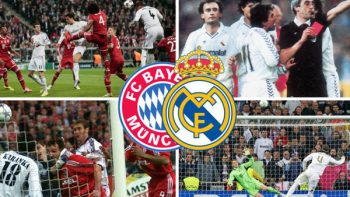 ¿Cuántas semifinales ha jugado el Real Madrid vs el Bayern?