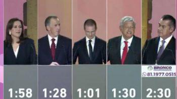 Tras ataques y ocurrencias concluye el primer debate presidencial