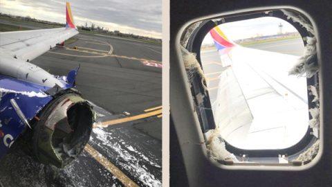 Pasajera de avión es succionada por la ventana tras una explosión