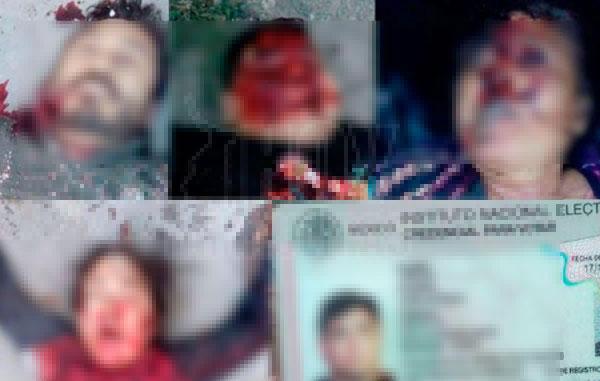 matan a seis civiles inocentes en balacera