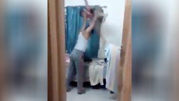 Exhiben a sujeto que azota y golpea brutamente a su hijo (VIDEO)