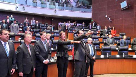 Rinden protesta en el Senado nuevos consejeros del INEE