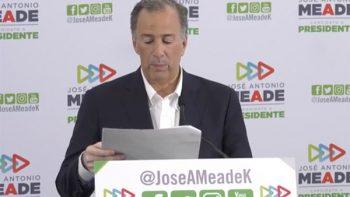 'El PRI está de pie', asegura Meade
