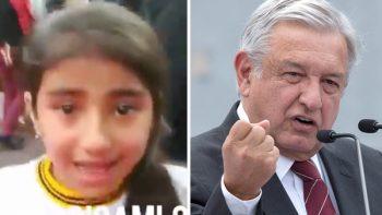 Niña llora porque no pudo ver a AMLO (VIDEO)