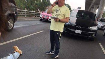 'Piojo' Herrera, involucrado en percance vial