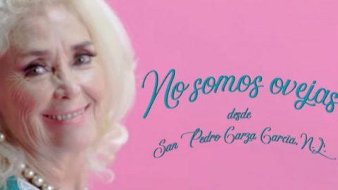 Señora San Petrina invita a votar por AMLO al ritmo de 'No somos ovejas'
