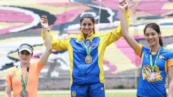 Susana Hernández, bicampeona en salto de longitud