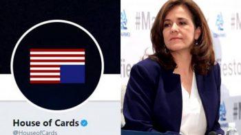 'House of Cards' envía tuit a Margarita Zavala