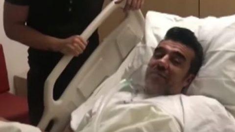 Adrián Uribe sigue en terapia intensiva, pero está fuera de peligro