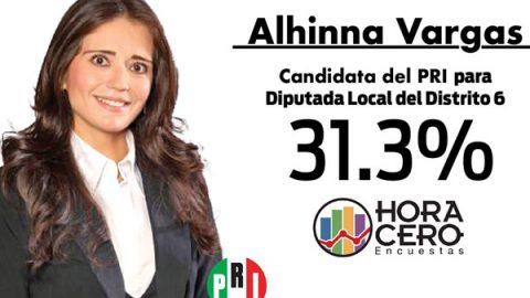 Alhinna Vargas va primera en el Distrito 6 Local
