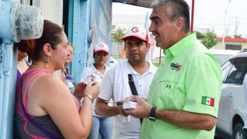 Asume César Garza compromiso para dar tranquilidad a los ciudadanos de Apodaca