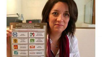 Mexicanos en el extranjero presumen sus votos en redes sociales