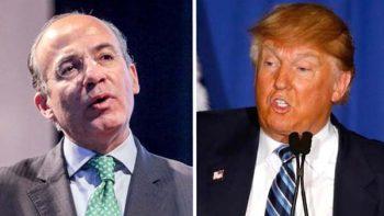 Felipe Calderón fustiga 'visión estúpida' de Trump por aranceles