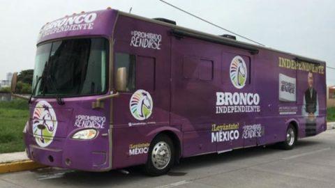 Reestrena candidato su 'Bronco Móvil' para gira proselitista