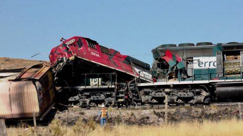 Choque de trenes en la ruta México-Ciudad Júarez deja un muerto