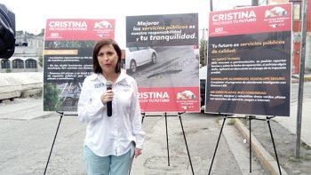 'Mi prioridad, tapar baches': Cristina Díaz