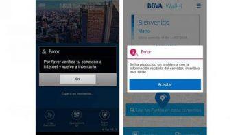 Usuarios reportan fallas en App de BBVA Bancomer