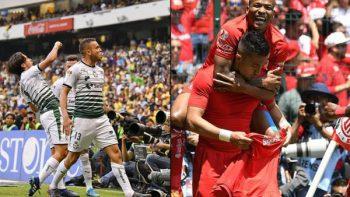 Santos y Toluca, sólidos cuadros que disputarán la gloria