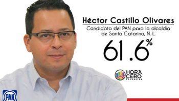 En Santa Catarina aventaja el PAN con Héctor Castillo