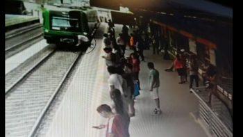 Intentó suicidarse lanzándose a las vías del tren pero sobrevivió (VIDEOS)