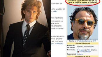 Cambian artículo de Wikipedia de Iñárritu tras serie de Luis Miguel
