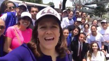Margarita Zavala hace campaña en Iztapalapa