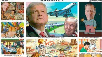 Monografía cómica de elecciones 2018, no oficial, se hace viral