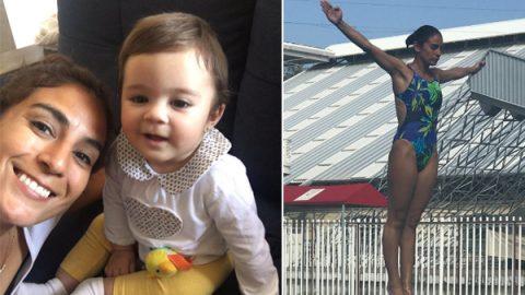 Combinan maternidad con deporte