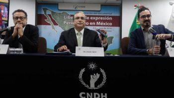 Periodismo en México vive tiempos 'de alto riesgo': CNDH