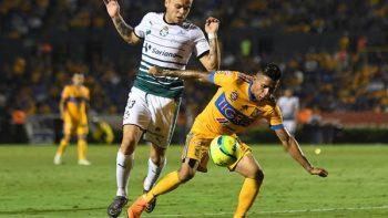 Tigres pega primero a Santos; gana 2-0