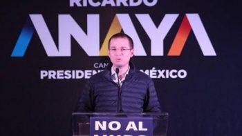La guerra sucia no me detendrá, dice Ricardo Anaya