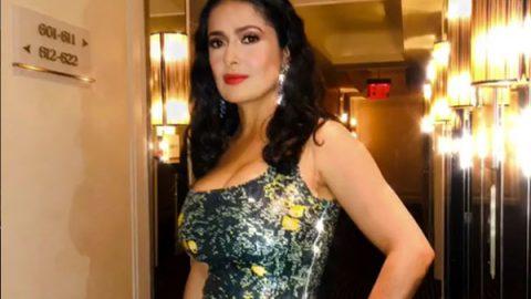 El vestido de Salma Hayek en la MET Gala 2018