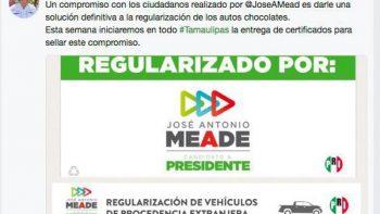 Refrenda Edgar Melhen compromiso de Meade sobre autos 'chocolate'