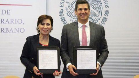 Firman Sedatu y Fepade carta compromiso para blindaje electoral