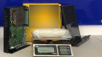 Aseguran metanfetaminas que eran transportada en consola de video