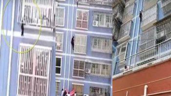 'Hombre araña' salva a niño de la muerte (VIDEO)