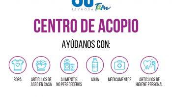 Activa DIF Reynosa acopio para afectados por las lluvias