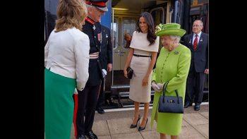 Meghan Markle usa Givenchy para su primer acto con la reina Isabell