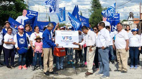 Gestionará Víctor Fuentes apoyos para reconstrucción de vialidades en Juárez
