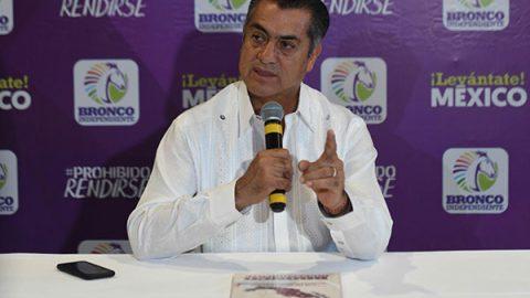 'Voy por un México fregón, no que esté fregado': 'El Bronco'