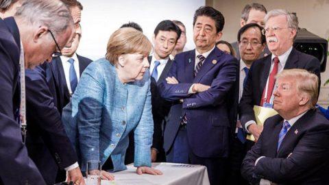 La foto del G-7 en la que Trump y Merkel 'visitan' a Edward Hopper