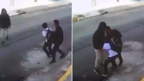 Captan en video asalto a un niño en la Agrícola Oriental