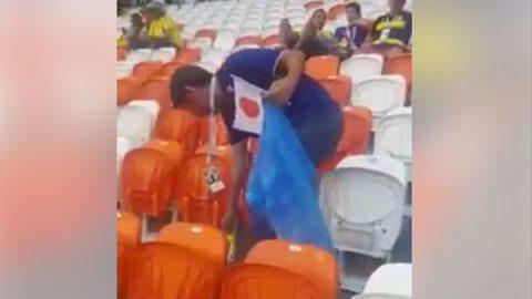 Japoneses dan ejemplo de limpieza en el Mundial de Rusia (VIDEO)